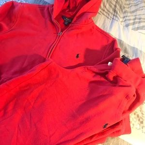 ❤️RED POLO SWEATSUIT SZ SMALL ❤️